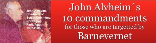 John Alvheims 10 commandments heading